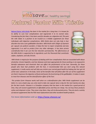 Natural Factor Milk Thistle