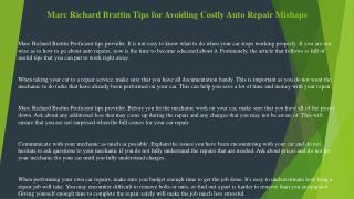 Marc Richard Brattin Take Advantage of This Auto Repair Knowledge