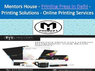 Printing Company - Printing Press In Delhi