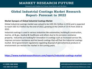 Global Industrial Coatings Market Research Report- Forecast to 2022