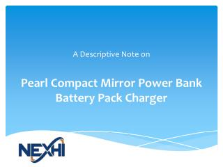 Pearl Compact Mirror Power Bank Battery Pack charger