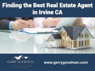 Finding the Best Real Estate Agent in Irvine CA