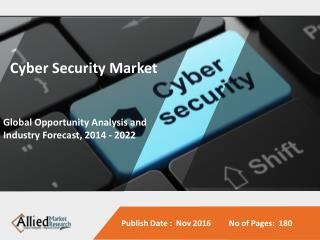 Cyber Security Market by 2022 - Analysis, Growth, Drivers, Restraint, Trend and Forecast