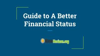 Guide to A Better Financial Status