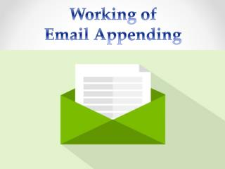 Working of Email Appending