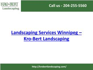 Landscaping Services Winnipeg | Design, Installation & Consulting