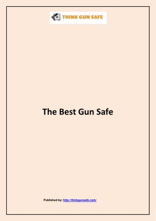 The Best Gun Safe