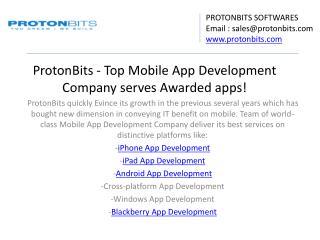 ProtonBits – A Leading Mobile App Development Company