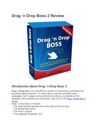 Drag 'n Drop Boss 2 review