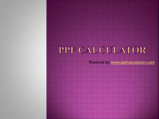 PPF Calculator