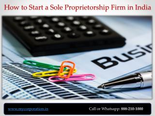 Register Sole Proprietorship Firm in India