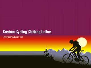 Ordering Custom Cycling and Motocross Clothing Online