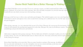 Doctor Brett Nadel Use These Tips to Win the Battle Again Back Pain