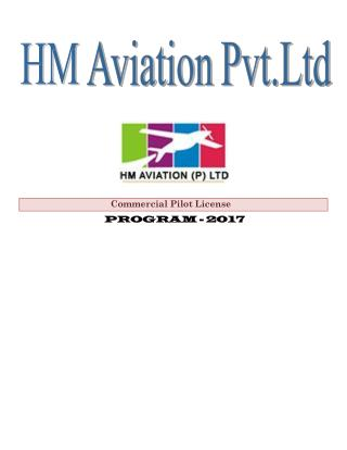 Enroll with HM Aviation for Commercial Pilot license
