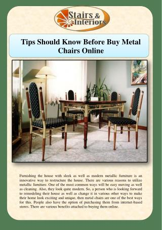 Tips Should Know Before Buy Metal Chairs Online