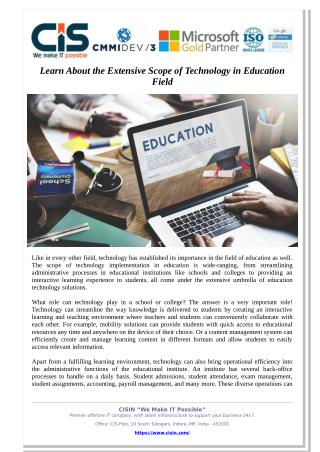Learn About the Extensive Scope of Technology in Education Field