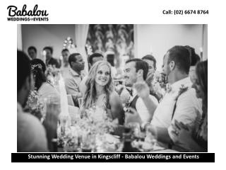 Stunning Wedding Venue in Kingscliff - Babalou Weddings and Events