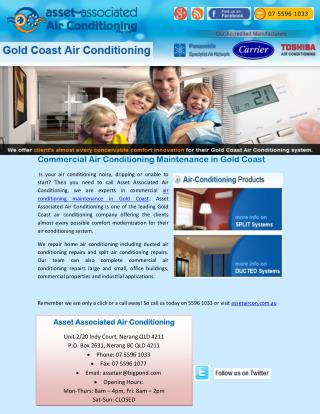Commercial Air Conditioning Maintenance in Gold Coast