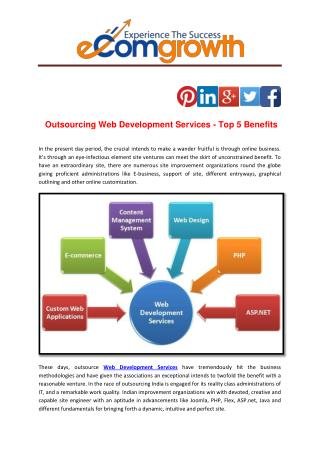Outsourcing Web Development Services - Top 5 Benefits