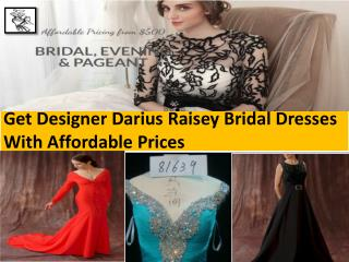 Order the perfect designer formal gowns designed by Darius Cordell