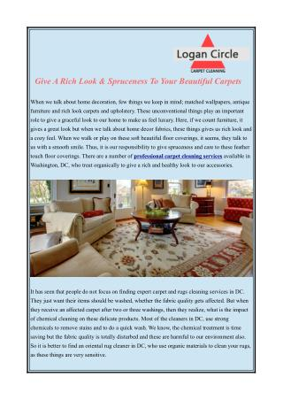 Rug Cleaning Services Washington DC