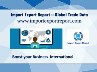 Import Export Custom Data - www.importexportreport