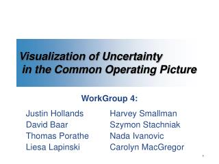 Visualization of Uncertainty  in the Common Operating Picture