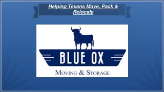 Best Moving company in Texas - Blue Ox Moving and Storage