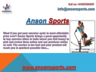 Anson - One Stop Destination for Best Home Fitness Equipments in India