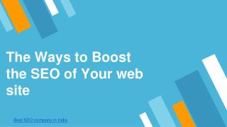 The ways to boost the seo of your website