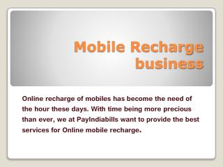 Mobile Recharge business