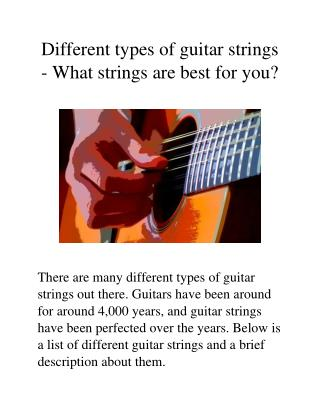 Different Types of Guitar Strings
