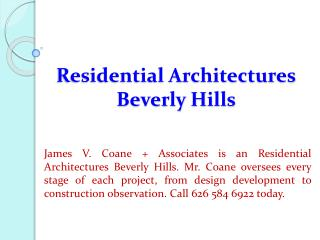 Residential Architectures Beverly Hills