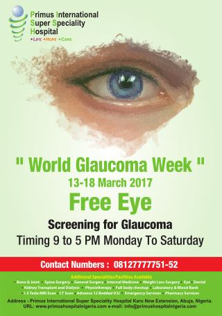 Free Eye Screening for Glaucoma in Nigeria