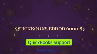QuickBooks Error 6000 83 | Get Support QuickBooks Support Phone Number @  1-844-551-9757