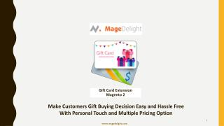 Magento 2 Gift Card Extension Set off The Ecommerce Success Journey