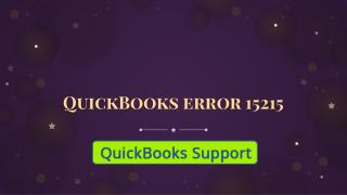 QuickBooks error 15215| Get help |QuickBooks error support phone number  1-844-551-9757