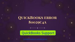 QuickBooks error 80029c4a| How to fix it| Call  1-844-551-9757