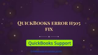 QuickBooks error h505 fix| learn how to overcome from the problem