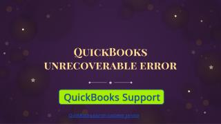 QuickBooks unrecoverable error| Get technical help number| dial  1-844-551-9757