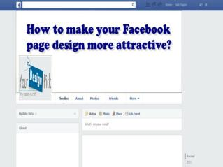 How to make your business Facebook page more attractive ?