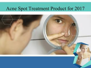 Acne spot treatment product for 2017