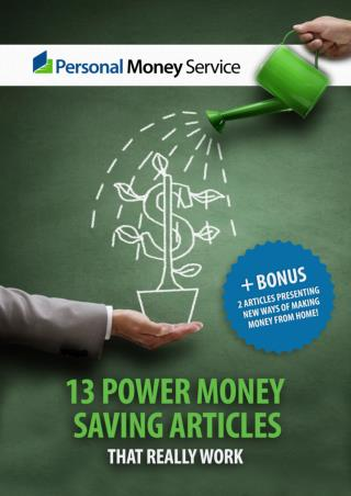 13 Power Money Saving Articles   Bonus