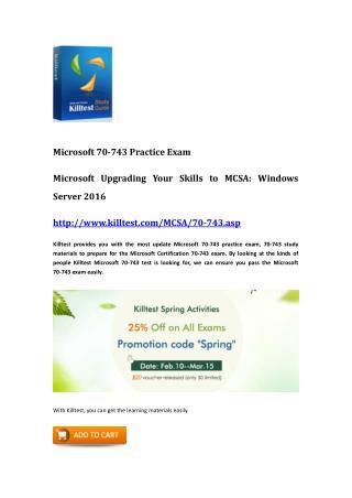 Microsoft 70-743 Guide Killtest