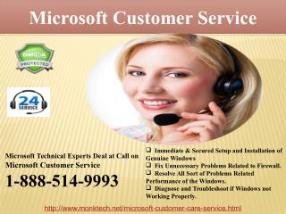 Get All-Time Assistance via Ringing us Microsoft Customer Service @1-888-514-9993