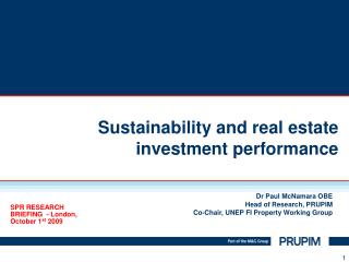 Sustainability and real estate investment performance