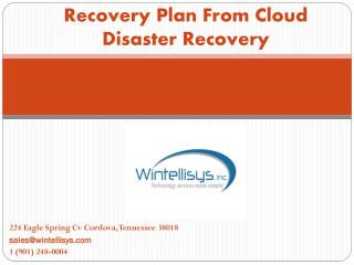 Reduce Your Business Risk with Cloud Disaster Recovery Service - Wintellisys