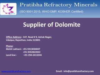 Supplier of Dolomite