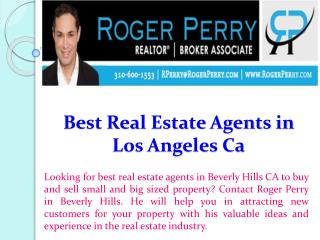 Best Real Estate Agents in Los Angeles Ca