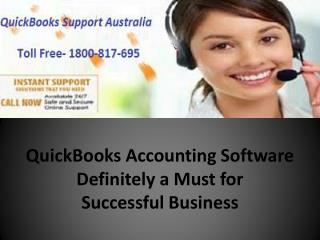 QuickBooks Accounting Software Definitely a Must for Successful Business